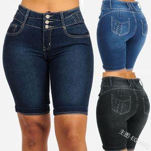 Bayan Moda İnce Kısa Jeans Bayan Yaz Kalça Paketi Jeans Seksi Katı Renk Shorts Womens