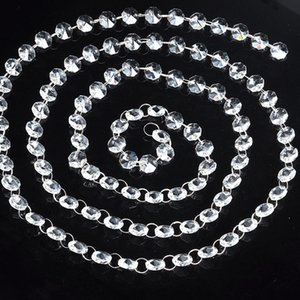 100yard lot 14mm Clear Octagonal Bead Chain Wedding Party Decor Christmas Garland Chakra SpectraCrystal Prisms Chandelier Parts