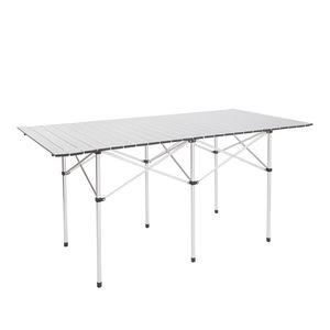 140 * 70 * 70cm rechteckig Camping Tisch tragbare Falten Camp Gartenmöbel Leicht Bauen Tisch für Picknick W / Tragetasche
