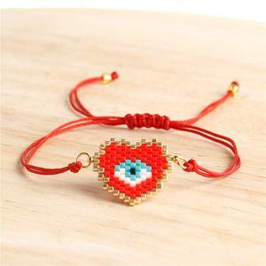 Go2boho pulseira olho do mal Perles Miyuki Coração Pulseiras mulheres turcas Eye mexicana Pulseras Mujer 2019 BohoJewelry Bijoux Armband