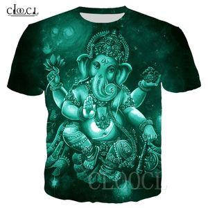 Индуизм Бог Ганеша футболки Женщины Мужчины 3D Printed Ganesh Одежда с коротким рукавом Harajuku Streetwear Tops Drop Доставка