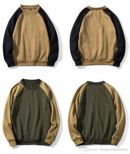 Designer en vrac Hommes Sport O Sweatshirts Neck Mode Automne Patchwork manches longues Hoddies Casual Male Apparel coloré