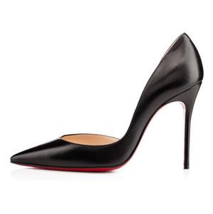 Zapatos clásicos de las mujeres cristianas de las bombas rojas de fondo Tacones altos Peep Toe Stiletto Zapatos de vestir Plataforma Charol Mate color08CM 10CM
