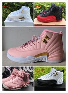 Retro Yeni Kadınlar 6 12 12s Big ÇOCUK Boy Kızlar GS Hiper Menekşe Taksi ovo Beyaz Pembe Gençlik Basketbol Ayakkabı Kızlar Nezle Oyunu Rush Pembe Sneakers Ayakkabı