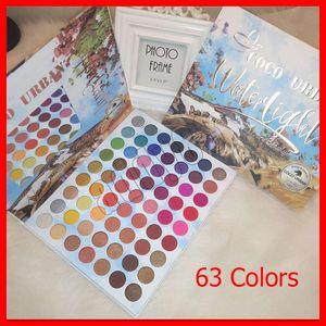 2020 Makeup New COCO URBAN Eye Waterlight Eye Sombra 63 Cores Matte Shimmer Eyeshadow Palette grátis DHL