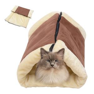 Теплый съемный Кошкин дом Pet Bed Tunnel руно Tube Dog Puppy Kitten Крытый Подушка Mat Питомник Клетка Shack 2-в-1