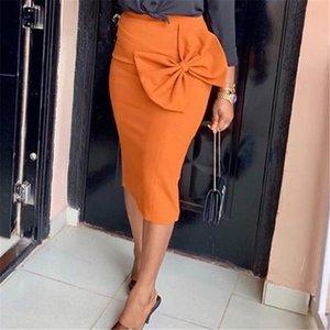 Женщины высокой талией Юбки Bodycon Карандаш Офис Дамы с большой Боути Весна Лето африканского Modest Элегантный ретро Jupes Falad Saia