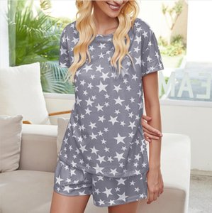 DHL Free for Pajamas Tiedye for Womens Crew Neck Tie Dye Pajama Short Sets Set Tie Dye Pajamas Floral Print Bwkf