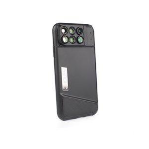 PHOLES 6 in 1 Camera Lens Phone Case For iPhone X XR Case Fisheye Wide Angle Macro Lens Telephoto Lens Soft TPU Edge