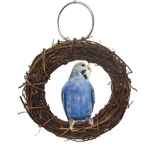 Pet Bird Parrot Ring Standing Perch Toy Pet Cage Swing Toy Accessories Chew For Parrot Bird