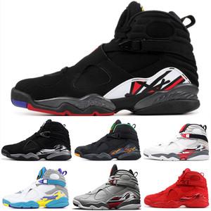 Nike Air Jordan 8 AJ8 Nuovi 8 San Valentino 8s South Beach Bugs Bunny riflettenti Bianco Aqua Playoff Chrome Countdown pacchetto di pallacanestro Scarpe da uomo Scarpe da