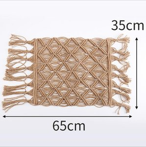 Hand-woven hemp rope mat Home Decoration Floating Window Cushion Living room mattress Butterfly Flower Table Cushion