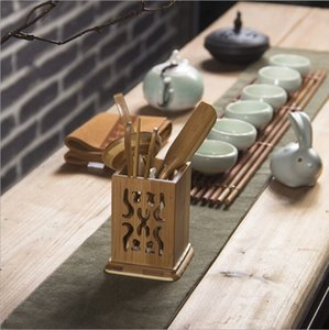 Tea clips tea needles spoons bamboo ceremony six gentlemen tea accessories high-quality bamboo products