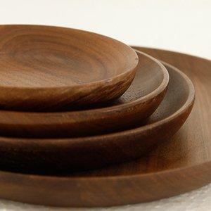 الجوز الأسود جولة خشبية الغربية لوحات بيتزا صحن القهوة ديم سوم مطعم العائلة مطبخ أدوات المائدة مجموعة