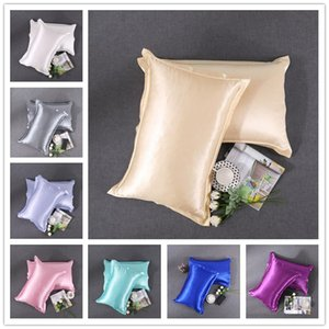 20 Farben Silk Kopfkissenbezug Double Face Pillowcase Qualitäts-Eis-Silk Satin-Kissen-Abdeckung Umschlag Pillowslip weiche Silk Bedding Supplies