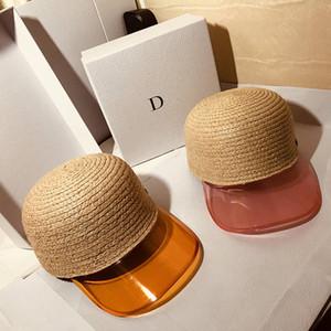 Mode Raffia Strohkappen Holiday Beach Hut Womens Breite Rand Hüte Hohe Qualität Sonnenhut Tide Fisherman Hüte Ins