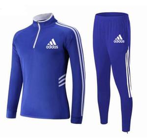 Дети Новый с длинным рукавом спортивная одежда высокое качество футбол дышащий детская тренировка движения одежда топ + брюки 2ps чемпион костюмы набор