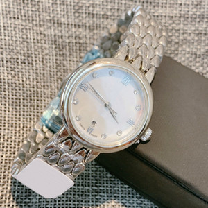 MUJER DE NEGOCIOS DE NEGOCIOS CALIENTES DE ALTA CALIDAD Reloj elegante Deville Silver Deville Reloj de cuarzo de acero inoxidable Moda Pequeño reloj de pulsera Dama Relojes de vestir casual