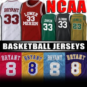 NCAA Lower Merion lycée Black Mamba Lebron James 23 Earvin Johnson 32 Basketball Jersey Michigan State University