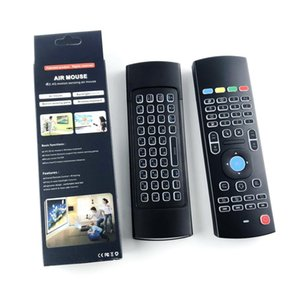 X8 retroilluminazione MX3 Mini Tastiera Con IR Learning Qwerty 2.4G Wireless Remote Control 6Axis Fly Air mouse retroilluminato gampad Per Android TV Box i8