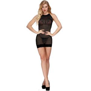 2019 Mesh biancheria sexy delle donne mini abito prospettiva See Through degli indumenti da notte Camicia da notte esotica Lady Costume Estate Nuovo
