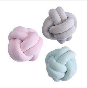 Ball Knoten Kissen Ins Weben Sofakissen Nordic Zwei Kreuz Knoten Plüsch Runden Kissen Baby Ruhiger Schlaf Puppen Gefüllte Schlafzimmer Dekoration B5134