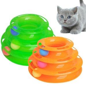 Drei Ebenen Haustier Katze Spielzeug Turm Tracks Disc Katze Intelligenz Amusement Dreischeiben Katze Spielzeug Ball Trainings Amusement Platte
