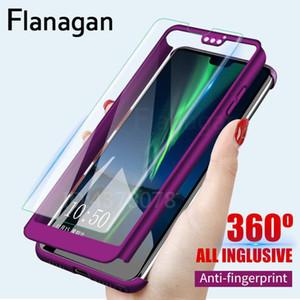 360 full protection phone case para huawei honor 7a pro à prova de choque tampa completa para huawei honor 8x 7c pro 7a casos com vidro