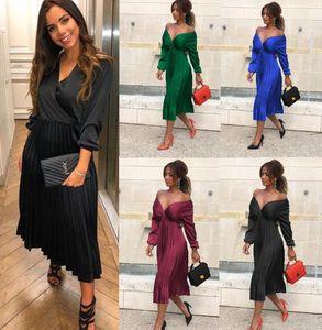 Новые женские платья плюс размер Короткие рукава Midi Качели T-Shirt Dress Plain Solid Color Crew Neck Свободный Свободный пуловер Туники Топы