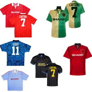 Cantona 90-92 92-93 92-94 96 Retro forması machester Giggs HUGHES İNCE SHARPE bağbozumu adam futbol forması klasik futbol forması Utd united