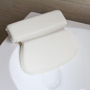 PU Foamstub Otro WC Suministros bañera de hidromasaje Supplie de bañera Almohada EcoFriendly impermeable cómodo Sucker baño Cabeza Almohada 36X31cm