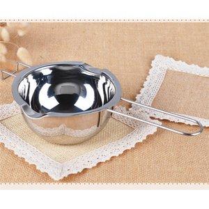 Acero inoxidable Mango largo Cera Melting Pot bricolaje perfumado jabón de la vela de chocolate Mantequilla Melting Pot Jabón hecho a mano Herramientas del chocolate