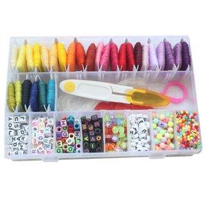 DIY Изготовление ювелирных изделий браслета дружбы Kit Письмо Bead Jewelry Making Материал 28 Color Line сплетенный браслет ручной тканые