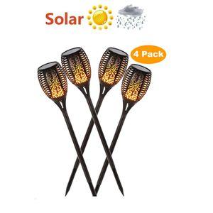 Lampe solaire LED flamme chemin de la pelouse étanche 33 LED Romantique Flicker Effet flamme Lumières d'extérieur LED Feu, Lumière, Jardin Décoration