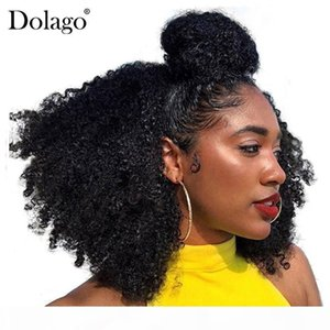 Human Braiding Hair Bulk No Weft Afro Kinky Curly Bulk Hair For Braiding Mongolian Remy Crochet Braids Dolago Hair