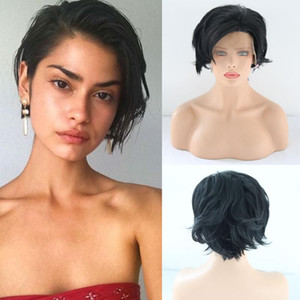 Charisma Short Bob Wigs Heat Resistant Hair Synthetic Lace Front Wigs For Black Women Short Pixie Wig For Summer Bob Wig