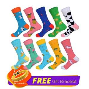 LIONZONE 10 Pairs Neu US8-12 MenWomen Couples Tide Lustige Socken Short Cotton Sock Streetwear 2019 Animals Fruit Happy Socks