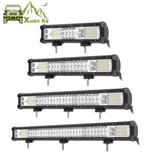 "XuanBa 9 "" 20 "" 32 "" بوصة خط ثلاثي Led Light Bar For Combo Offroad 4X4 4WD ATV UAZ 4WD SUV Truck Auto Driving Light"