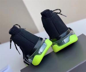 جديد الدانتيل متابعة سرعة واضحة وحيد حذاء رياضة الأزياء الفاخرة الرجال النساء سرعة سوك مدرب مصمم أحذية أسود أبيض حك أحذية الكاحل أفضل جودة