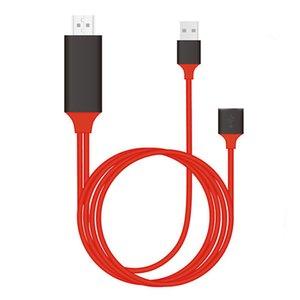 IOS Phone için Android için HDMI 1m Kablo Tip C HDMI Kablo Aydınlatma için HDTV Adaptörü USB 2.0