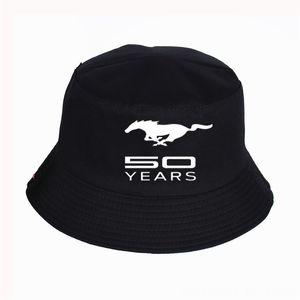 Мода Ford Mustang Печать Ковш шапки шапки шапки, шарфы Перчатки Шляпы Женщины Mens Панама Bucket Hat Ford Mustang Design Flat Sun Visor Fi