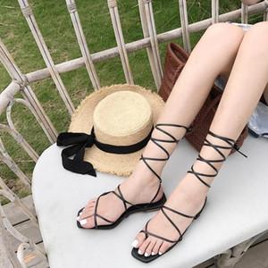 Goddess2019 Fasciola plana Sandalias de pellizco Vendaje Zapatos de mujer con fondo blando