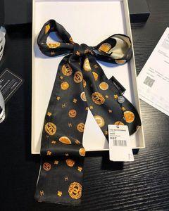 2020 New designer Silk Handbag Long Scarf shawl for Women High Quality Italy Brand Silk Scarves small scarfs for Bag Head scarf luxury scar