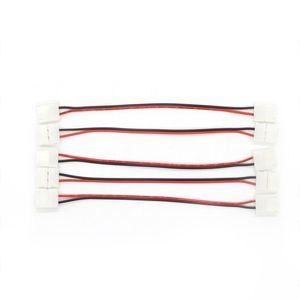 와이어 LED를 PCB 커넥터를 연결 10mm 8mm의 2 핀 단색 5050 LED 스트립 커넥터 무료 납땜