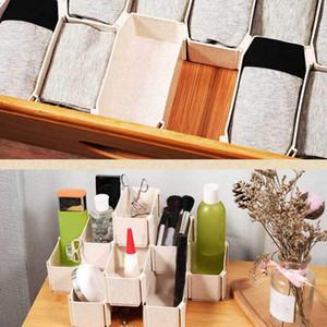 6pcs superposable tiroir Organisateurs Combinaison libre Armoire Chaussettes Sous-vêtements Honeycomb finition Boîte de rangement