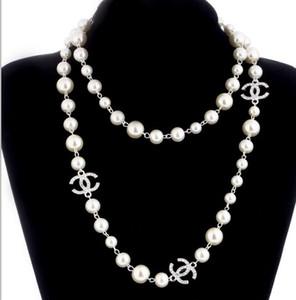 حار بيع قلادات اللؤلؤ للنساء سترة طويلة قلادة المجوهرات عالية الجودة الفاخرة الزفاف للأفضل هدية