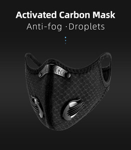 In Stock Black Cycling Face Mask With Free Filter PM2.5 Breathable Dustproof Bicycle Respirator Sport Protection Dust Mask Anti-Droplet