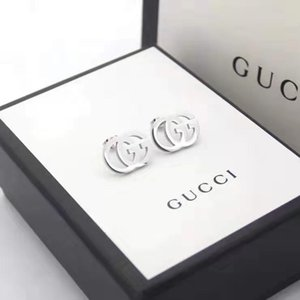 The new fashion earrings for 2020 are titanium alloy steel wire 18K gold plated stainless steel classic love earrings
