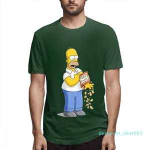 Fashion Designer Shirts fashion tee Womens Shirts Mens Short couples Shirt The Simpsons Printed T Shirts Casual Mens Topsc2211d03