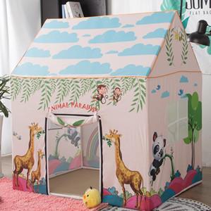 아이들을위한 놀이 동산 만화 포셋 동물 꼬리 천막 천막 돔 천막 실내 야외 놀이 장난감 천막 여학생 소년 영아의 집 모양